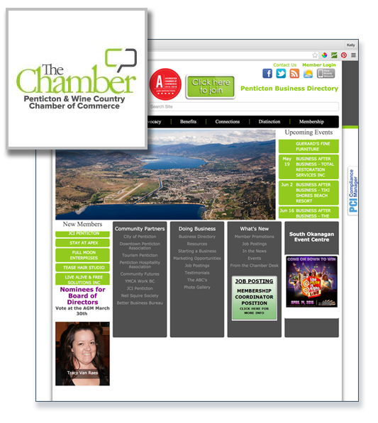 Member of Penticton & Wine Country Chamber of Commerce
