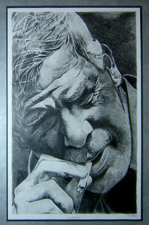Lee Marvin Pencil Drawing