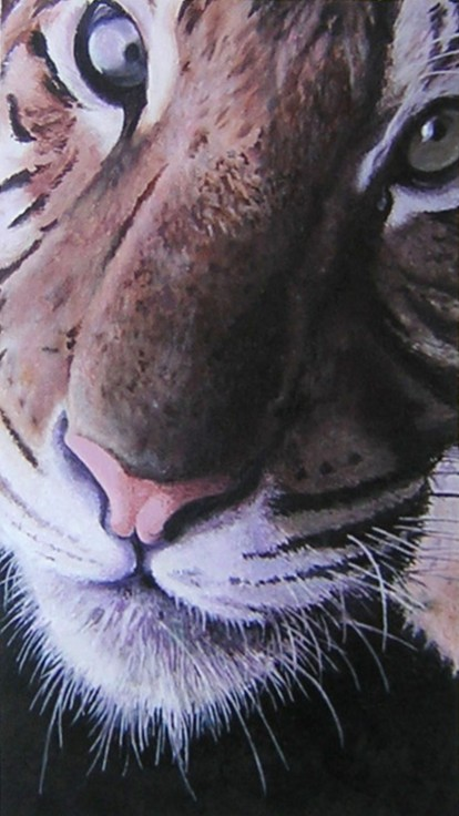 Acrylic Painting of a Tiger